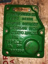 John Deere 1-1/2 Hp E Hit Miss Engine Governor Cover 299334