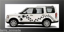 104 x Paw Print Adesivi Auto Decalcomanie Animali Tutti i Colori 4x4, Land Rover,