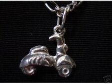 LOOK Silver Scooter Motorcycle Bike Pendant Jewelry