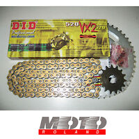 KIT TRASMISSIONE CATENA DUCATI MONSTER 695 '07 DID 520 VX2 ORO X-RING PBR PROMO