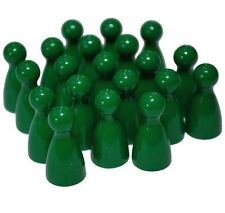 Green Halma Pawns, Plastic Playing Pieces x20