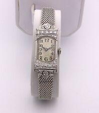 Ladies Platinum 1920's International Schaffhaussen Diamond Watch, 14K Bracelet