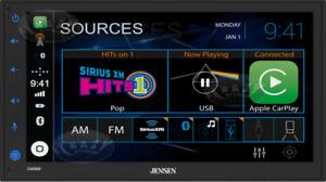 "NEW Jensen CAR689 2-DIN 6.8"" Multimedia Car Stereo, Apple CarPlay & Android Auto"