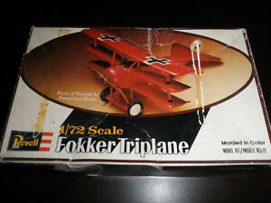 1/72 Fokker Triplane RED BARON German Fighter by Revell  T