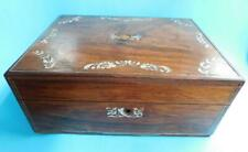 Lovely Antique Rosewood Vanity Documents Utility Box For Repair Or To Love! 1900
