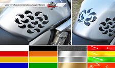 3d seitentankpad/KNEE PAD Dots 800041 forme individuali per tutte le motociclette