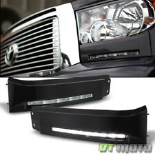 For 2007-2013 Toyota Tundra LED Bumper Built-In DRL Fog Light Driving Lamp Xsp-X
