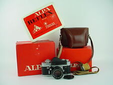 Alpa reflex 9D w/50mm f/1.8 Kern-Macro-Switar All Black Lens #5006 Boxed & Rare