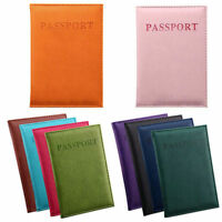 Travel Passport ID Credit Card Cover Holder Case Protector Organizer PU Leather