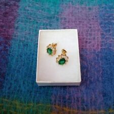 Unbranded Emerald Crystal Costume Earrings