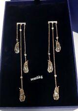 Swarovski Naughty Chandelier Pierced Earrings, Black Feather ROS Crystal 5497873