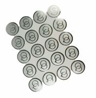 """SILVER Double RINGS Print Wedding Round 1"""" Stickers CHOOSE PACKAGE AMOUNT"""