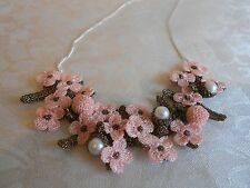 Exquisite ATELIER GODOLE Handmade Floral Necklace from France!