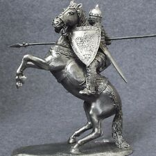 Equestrian Knight Medieval 1/32 with Spear Metal Knight Toy Soldier Rider 54mm