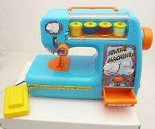 Machine à coudre enfant jeu imitation à piles bleu avec 4 bobines de fils