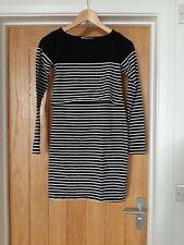 Jojo Mamam Bebe Black & White Stripe Nursing Dress Size X Small