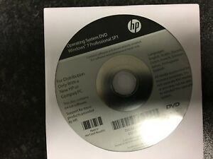 HP Win 7 Pro Operating System DVD NEW UN-OPENED