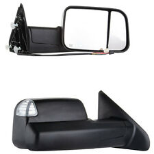 BLACK For 2009-2015 Ram 1500 Pickup Signal Light  Power Heated Towing Mirrors