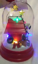 PEANUTS CHRISTMAS LIGHT UP SNOOPY & WOODSTOCK FIGURINE TABLE DECORATION GIFT