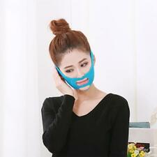 Face V-Line Cheek Slim Lift Up Mask Double Chin Thin Strap Anti-Aging Blue