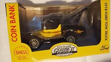 1918 FORD TOW TRUCK COIN BANK Shell Motor Oil GEARBOX DIE-CAST 1:24 NEW IN BOX