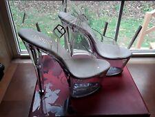 PLEASER High Heels Ankle Strap Platform Sandal Stripper Shoes SKY-308 Clear  7