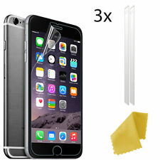 3 X Clear Plastic Screen Guard LCD Protector Film Layer for Apple iPhone 6