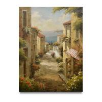 NY Art - Exquisite Spanish Village Scene 36x48 Original Oil Painting on Canvas!