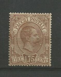 1884 Regno pacchi postali lire 1,75 nuovo senza gomma