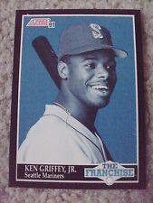 Ken Griffey Jr FRAN 1991 Score RARE BLANK BACK PROOF CARD hand-cut from sheet