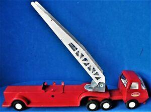 Vintage mid 1970s Tonka Pressed Steel Mini Ladder Fire Truck made in USA 1:43