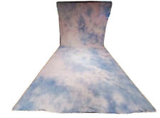 Hand Crafted Muslin Backdrop Abstract 9ft x 18ft Light Blue Pink Background