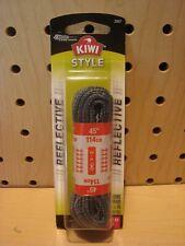 """4-5 Eyelets Flat Laces 6143 20 Pairs Kiwi Kids Sport Black ShoeLaces 36/"""""""