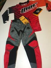 Thor Kids Motocross Gear Set Honda Crf Red Pants 20 Jersey X-Small Free Shipping