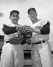 New York Yankees YOGI BERRA & WHITEY FORD Glossy 8x10 Photo Baseball Poster
