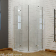 Frameless Hinged Pivot Shower Door Enclosure and Tray Waset Glass Screen 760x760mm 760