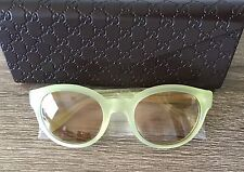 Gucci | Modified Cat Eye Sunglasses | Yellow | Made in Italy | NIB