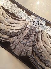 wunderschöne Barock Bordüre SCHWARZ,SILBER  5m lang 17,7 cm breit