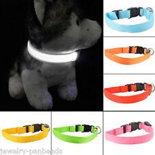 Verstellbar LED Hundehalsband Halsband Licht Leuchtend Leuchthalsband Halsbänder