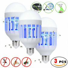 3 Pack Mosquitoes killer Fly Bug Zapper Outdoor Indoor 15W LED Light Bulb Lamp