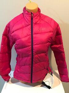 New Women's Salomon Minim Down Ski Clima Wind Jacket Hot Fancy Pink M Medium