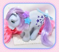 ❤️My Little Pony MLP G1 Vtg 1982 Italy Italian Blue Belle NIRVANA Purple Stars❤️