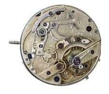 SWISS QUARTER REPEATING CHRONOGRAPH POCKET WATCH MOVEMENT SPARES OR REPAIRS H50