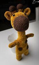 Handmade Amigurumi Giraffe Stuffed Animal Toy Knitting Crochet Doll ZIRA