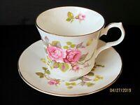 "VINTAGE SPRINGFIELD CHINA ""ROSES"" PORCELAIN TEA CUP & SAUCER"