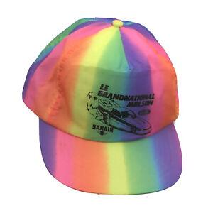 Vintage NHRA Le Grand National Molson Drag Racing Snapback Hat Cap Canada Sanair