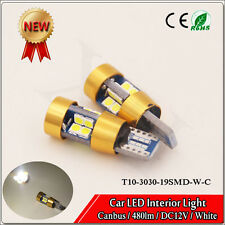 2x T10 194 Samsung 3030 19 SMD White Canbus LED Light Side/Interior/License Bulb