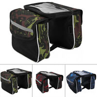 Waterproof Reflective Double Panniers Bag Bike Cycling Rear Seat Trunk Rack Pack