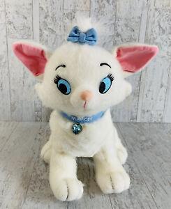 Disney Store Aristocats Plush Cat Marie March Gem Blue Collar Bow Stuffed Animal