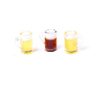 1x 1:12 Dollhouse Mini Beer Cups Miniature Drink Mini Cups Doll House S Gt